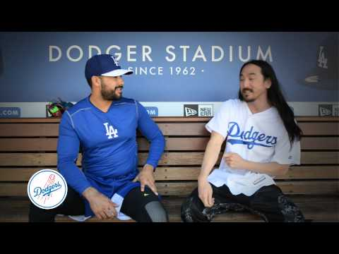 Steve Aoki with Andre Ethier Promo for Dodgers, April 19th
