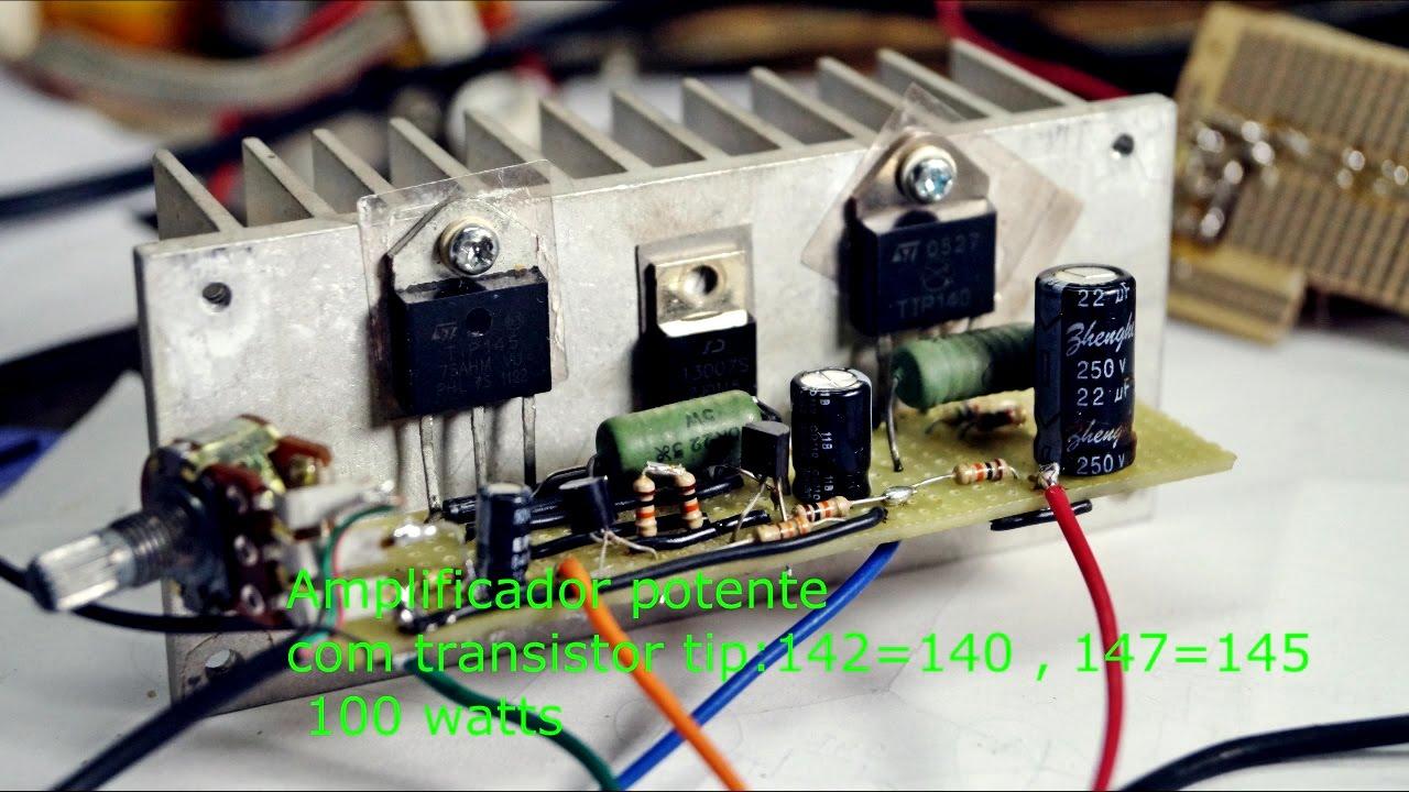 Amplificador Potente Com Tip 142 E 147 Youtube Audio Kit Circuits Class Ab 100w Hiend Amplifier Osvaltec Video