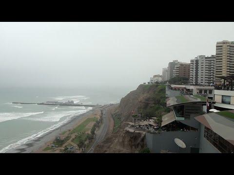 Miraflores District and Pacific Ocean-Lima, Peru