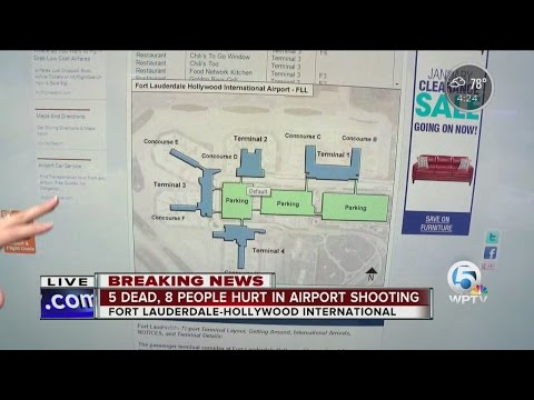 Fort Lauderdale Hollywood International Airport map explained