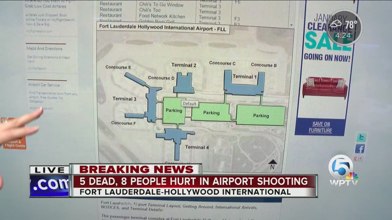 Ft Lauderdale Airport Map Fort Lauderdale Hollywood International Airport map explained