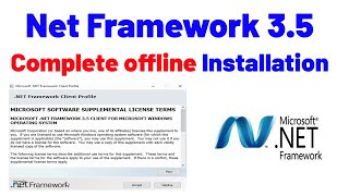 how To Install  Net Framework 3.5 Offline On Windows 10