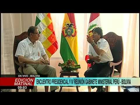 Presidentes Martín Vizcarra y Evo Morales se reúnen en la ciudad de Cobija