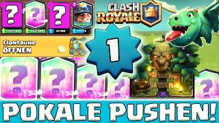 LEVEL 1 ACCOUNT PUSHEN! LEGENDARY HYPE Clash Royale deutsch