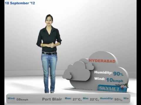 Skymet Weather Report - India September 18, 2012