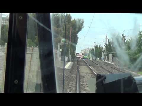 Route 59 (part 1) from Airport West to Essendon Tram Depot in real time. Australian Trams