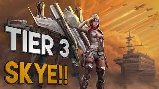 Vainglory Skins - SUPERSONIC SKYE TIER 3!! Lane Gameplay [Update 1.18]