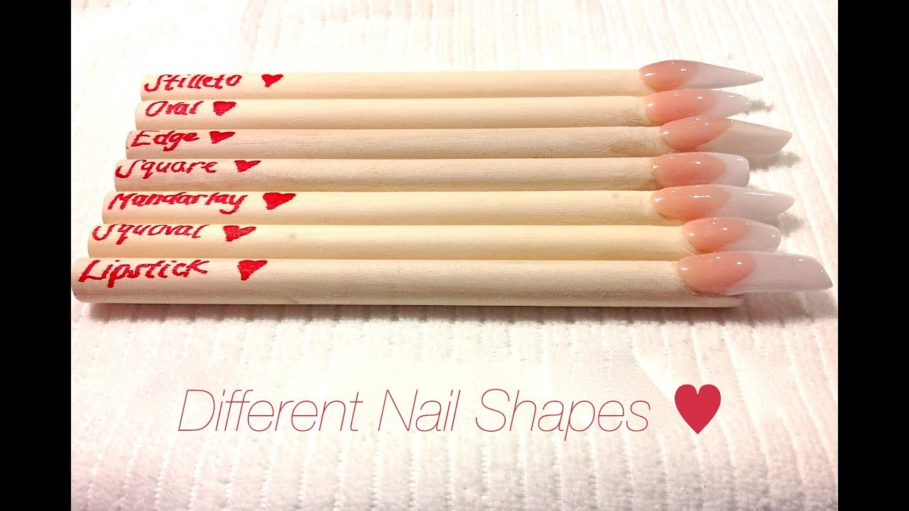 HOW TO: Different Nail Shapes  - YouTube