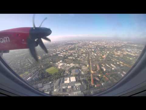 Landing in Berlin TXL with Air Berlin Dash 8 Q400