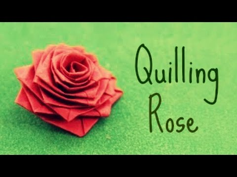 Papercraft How to make a rose with a paper stripe (Quilling Rose)