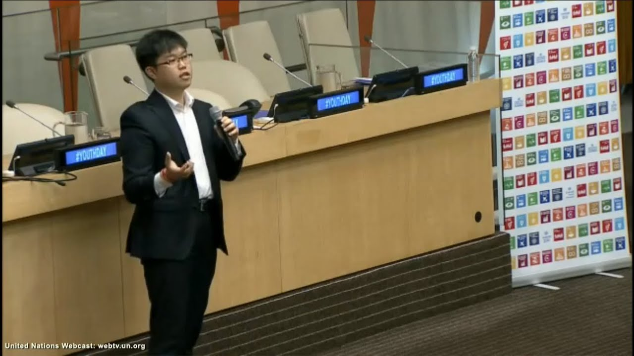 Steve Lee addresses the United Nations on International Youth Day 2016