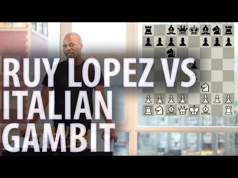 Chess openings - Ruy Lopez vs Italian Game