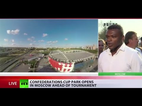 2017 FIFA Confederations Cup Park opens in Moscow
