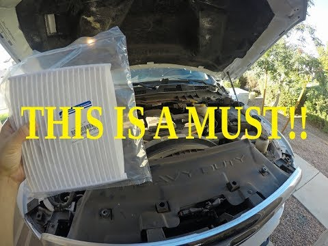 HOW TO INSTALL CABIN AIR FILTER IN YOUR HEAVY DUTY RAM/ CHANGE INTAKE FILTER