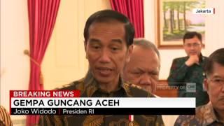Langkah Cepat Jokowi Atasi Gempa Di Aceh