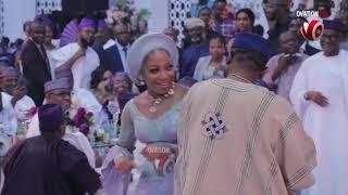 Mr Segun Awolowo Dances with Teni at his Daughter39s Wedding
