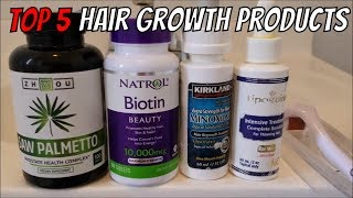 Top 5 Effective Hair Growth Products for Hair Loss in 2018