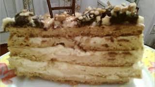 Рецепты от друзей. Торт медовик со сметанным кремом.