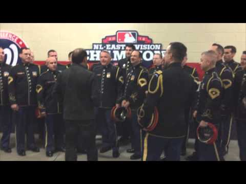 Lee Greenwood & The US Army Chorus- God Bless the USA (A Capella)- Nationals Stadium (untelevised!)