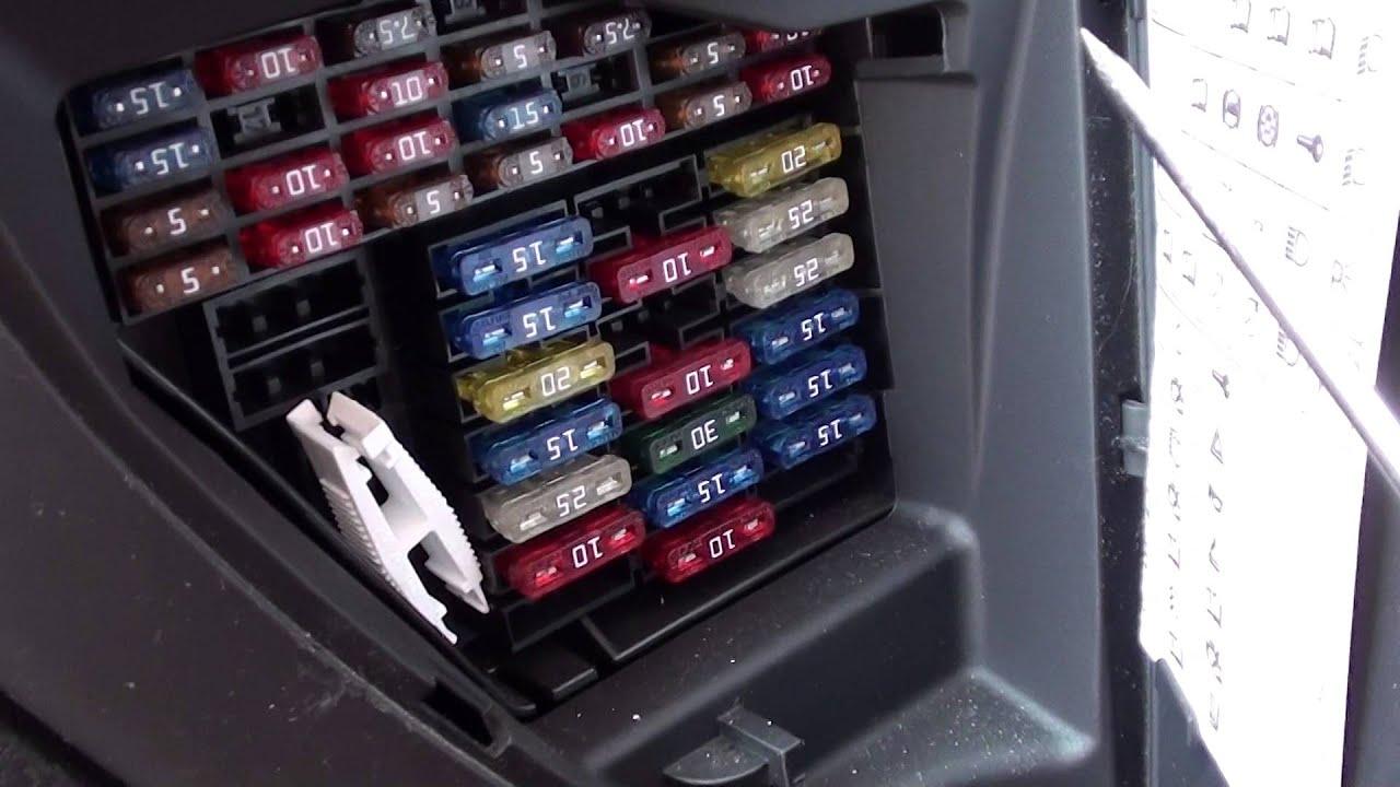 VW Golf Mk4 Fuse Box Location Video  YouTube