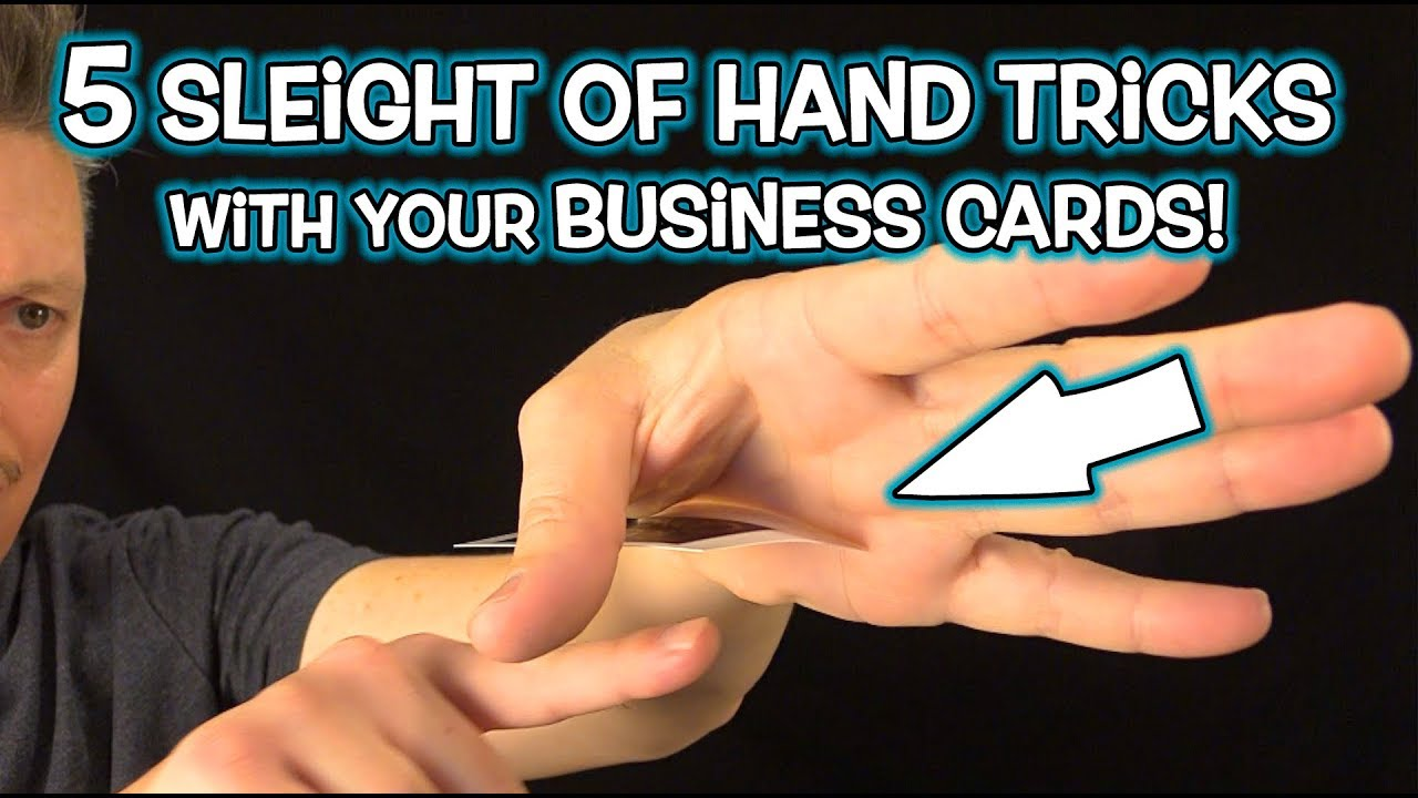 Magic With Your Business Cards Simple Tricks Revealed Youtube