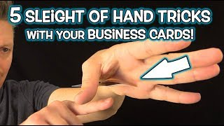 Magic with YOUR BUSINESS CARDS!  (Simple Tricks Revealed!)