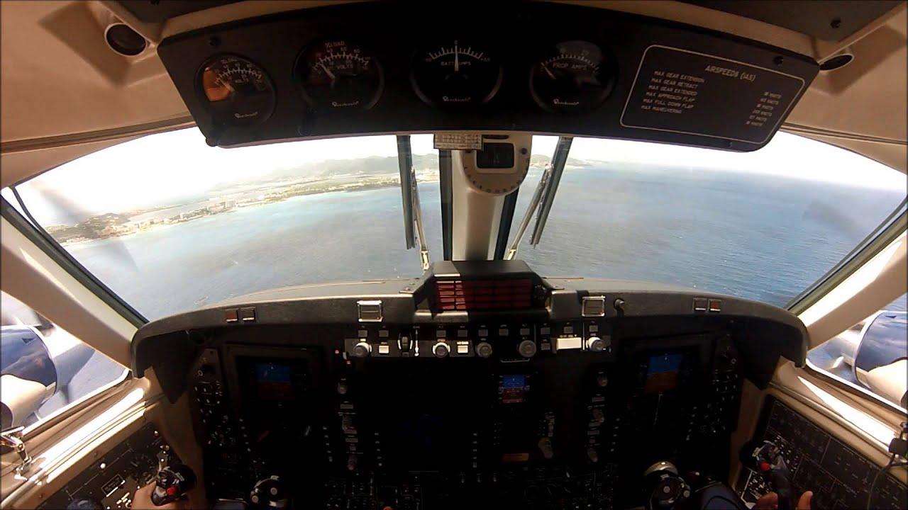 King Air 250 Landing at St. Maarten TNCM - YouTube