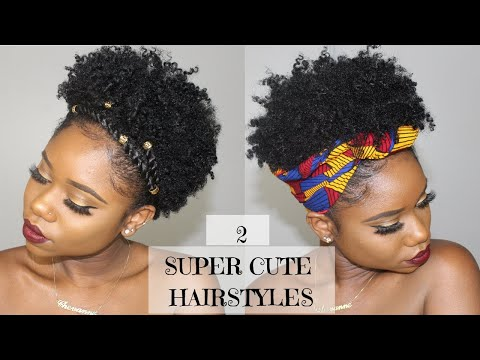 Two SUPER CUTE And EASY Hairstyles For SHORT Natural Hair  | 4B/C Natural Hair | Chev B