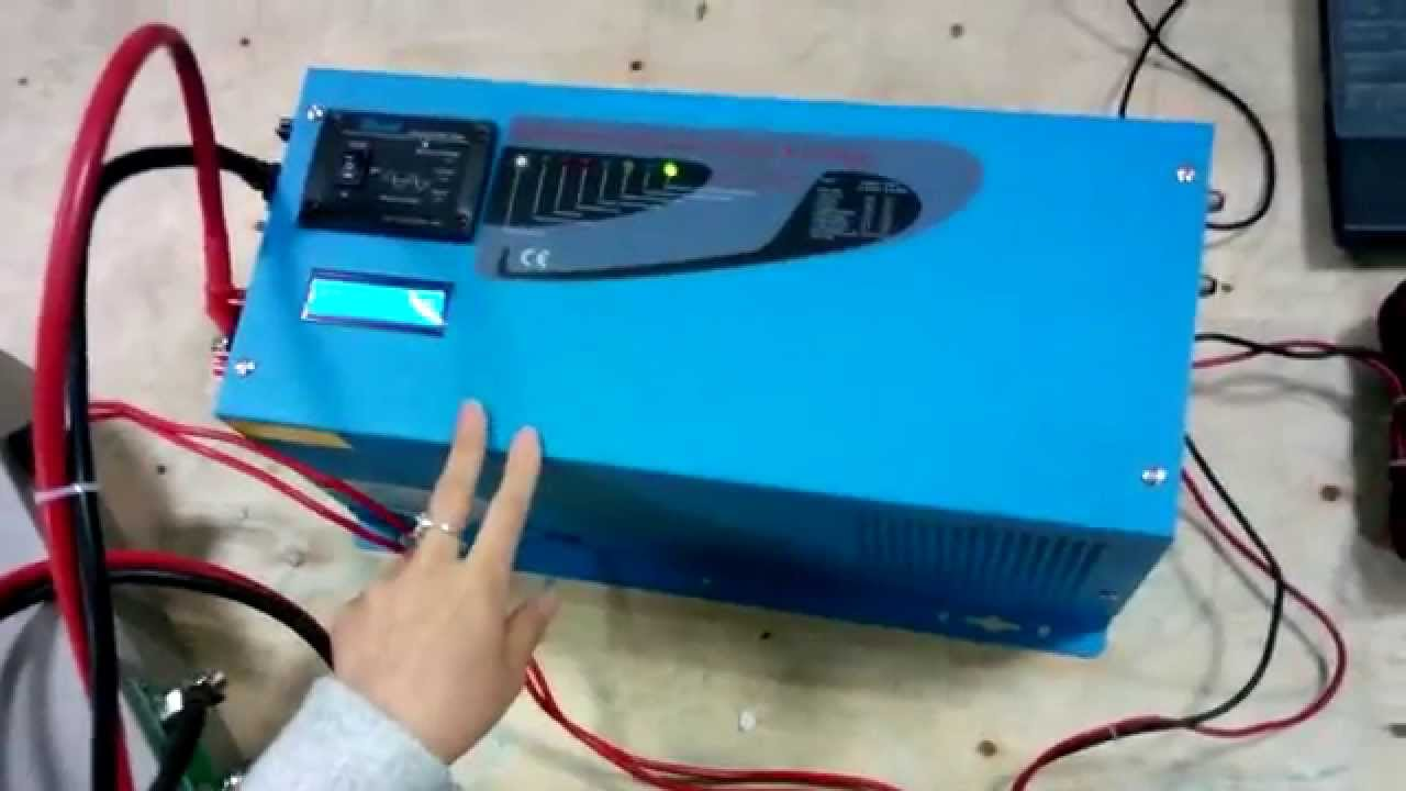 Lpt Series Pure Sine Wave Inverter With Charger Work