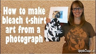 How to make bleach t shirt art from a photograph using free software