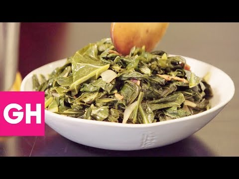 how-to-cook-collard-greens-with-bacon- -gh-test-kitchen-secrets