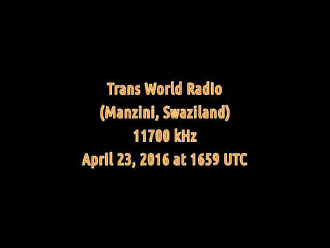 Trans World Radio (Manzini, Swaziland) - 11700 kHz