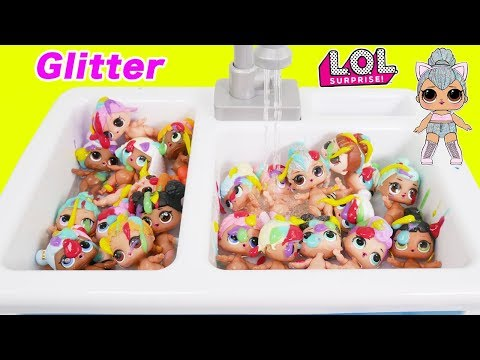 Shimmer and Shine Morning LOL Surprise Dolls Bedtime Routine Baby Bubble Bath Paint Play Dress Up!