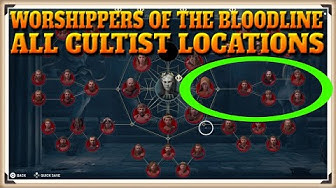 Assassin's Creed Odyssey All WORSHIPPERS OF THE BLOODLINE Cultist Locations - Cult Unmasked Trophy