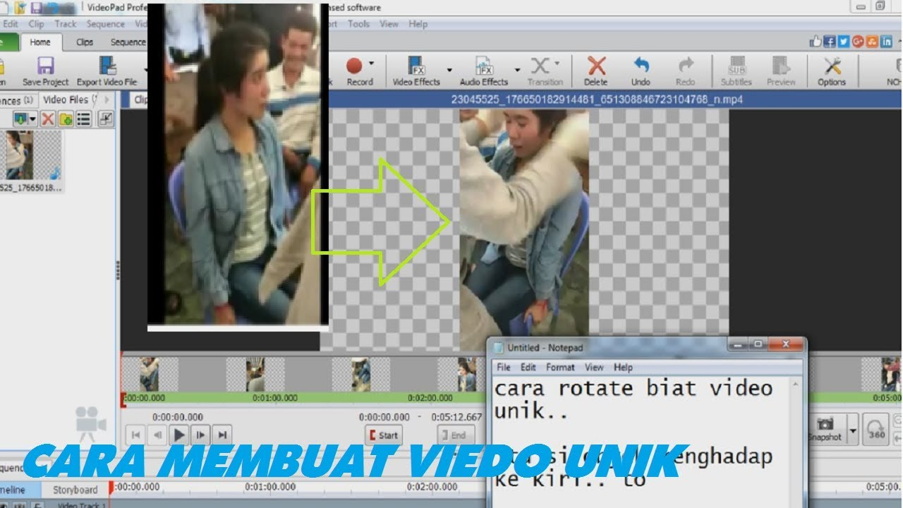 How to rotate video in videopad editor unik flip youtube how to rotate video in videopad editor unik flip ccuart Image collections