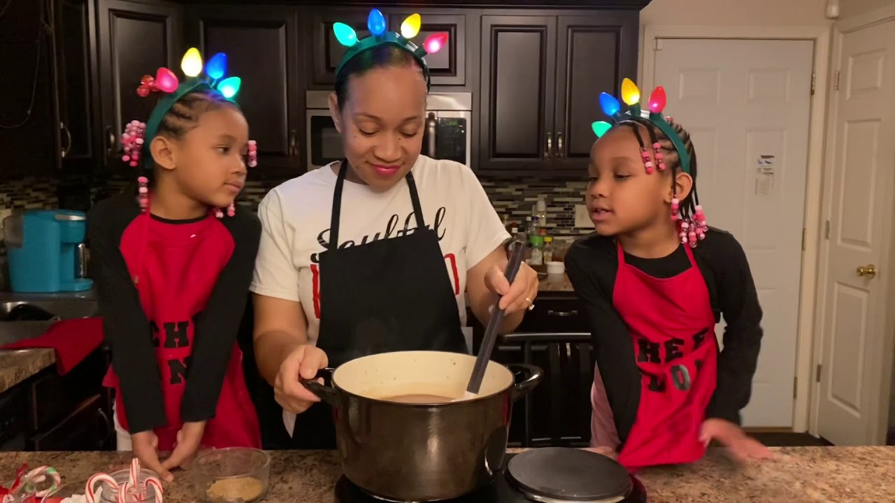 Making Hot Chocolate with my twins!!
