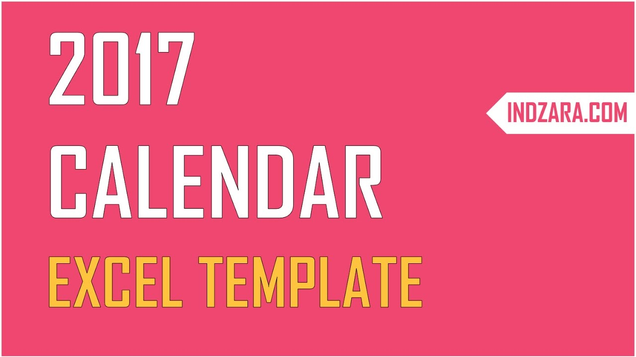 Excel Calendar Template Create Your Own 2017 2018 Or Any Year