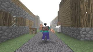 Roblox Steve dances to Revenge ( Minecraft: Creeper Aww man meme )