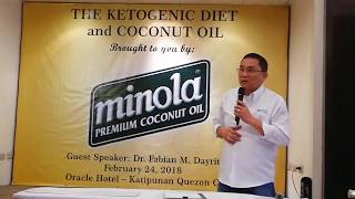 SPMC Minola VP for Sales & Marketing Mr. Mertz Bernardo welcomes guests at Ketogenic Diet Forum