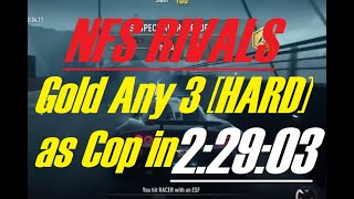 NFS Rivals - Easiest Gold on HARD Event as Cop
