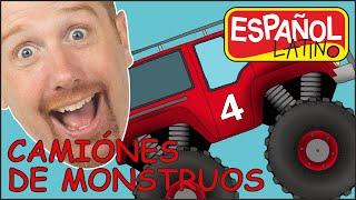 Camiones Monstruo para Niños con Steve and Maggie Español Latino | Canciones Infantiles