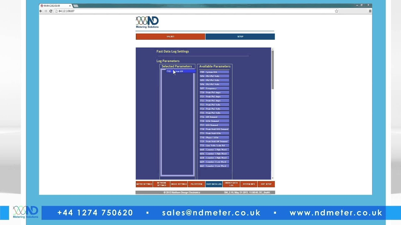 ND Metering Solutions Rail 350v Electricity Meter