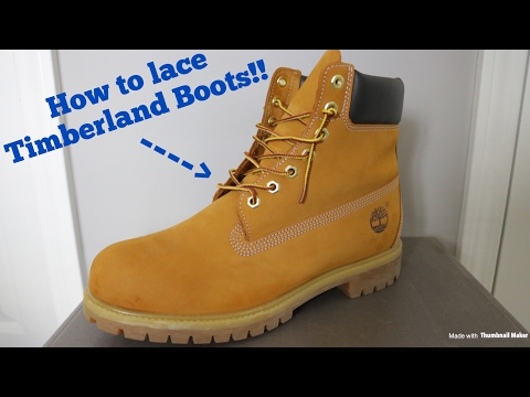 Promo-Codes am besten wählen Kaufen How To Lace Timberland Boots!!! - YouTube