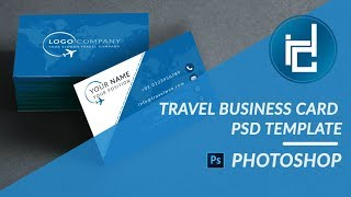 Gambar cover Travel Business Card - PSD Template