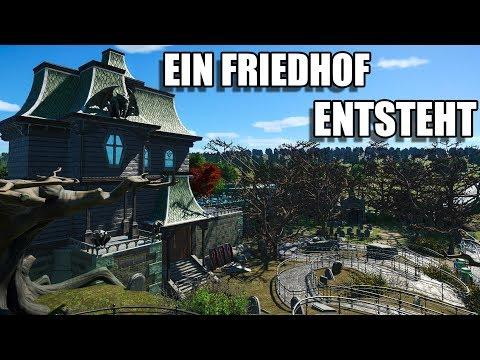 Planet Coaster - SPOOKYTOWN #19 - SEELENWASSERBAHN - DER FRIEDHOF -  Let's Play Deutsch