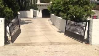 Uphill Swinging Driveway Gates