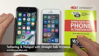 Tethering & Hotspot with Straight Talk Wireless