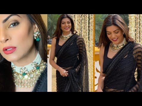 Sushmita Sen Looks Sizzling HOT at her Pre-Wedding Function With Rohman Shawl