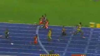 NEW World Record 9.58 100m sprint by Usain Bolt... AMAZING