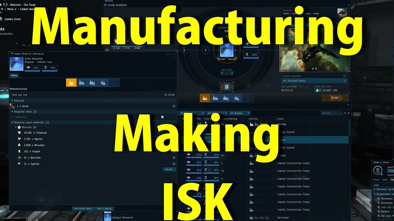 Manufacturing and making isk eve online youtube manufacturing and making isk eve online malvernweather Choice Image